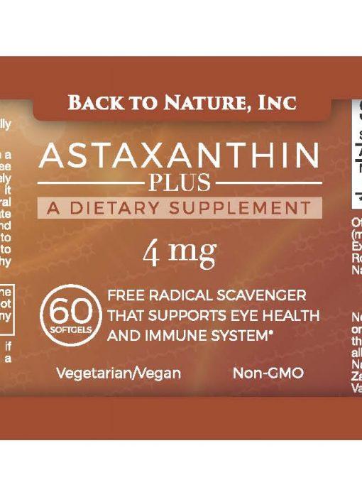 Label – Astaxanthin Plus – 60 cap